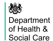 Dept of Health & Social care logo